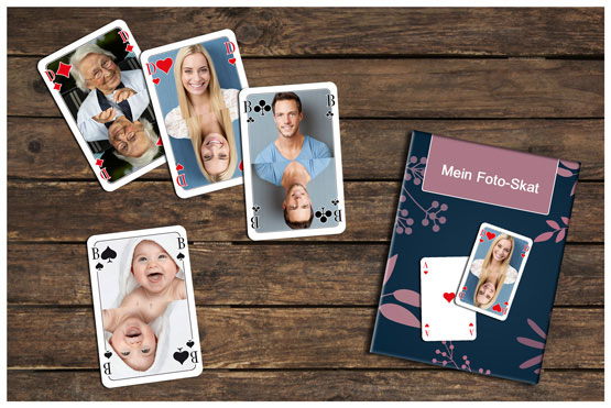 spielkarten kartenspiele memospiele brettspiele und fotopuzzle mit ihren fotos bedrucken. Black Bedroom Furniture Sets. Home Design Ideas