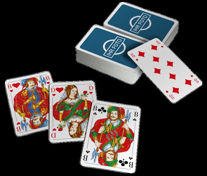 NEU Kartenspiel Romme 2 x 55 Blatt mit Spielanleitung Rommee