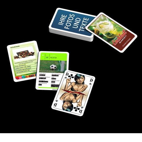 Individuelle Spielkarten Kartenspiele Selbst Gestalten Und